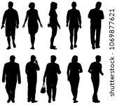 black silhouette group of... | Shutterstock .eps vector #1069877621