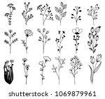 hand drawn design elements.... | Shutterstock .eps vector #1069879961