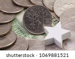 a quarter of vermont  quarters...   Shutterstock . vector #1069881521
