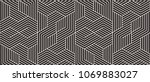 pattern with bold lines and... | Shutterstock .eps vector #1069883027