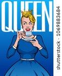 """""""queen""""   poster  banner  t...   Shutterstock .eps vector #1069883684"""