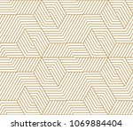 pattern with bold lines and... | Shutterstock .eps vector #1069884404