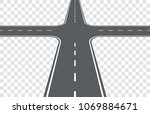road intersection. element for... | Shutterstock .eps vector #1069884671