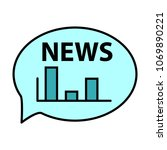 breaking news online... | Shutterstock .eps vector #1069890221