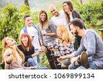 happy friends having fun...   Shutterstock . vector #1069899134