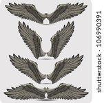 wings set. vector illustration. | Shutterstock .eps vector #106990391