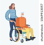 vector cartoon illustration of... | Shutterstock .eps vector #1069913057