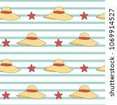 cute summer hats seamless...   Shutterstock .eps vector #1069914527