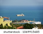 view from above on the medieval ... | Shutterstock . vector #1069915685