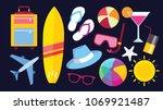 summer vector banner. summer set | Shutterstock .eps vector #1069921487
