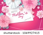 happy mother's day message on... | Shutterstock .eps vector #1069927415