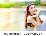portrait asian sexy woman at... | Shutterstock . vector #1069928117