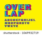 overlap intertwine typography... | Shutterstock .eps vector #1069932719