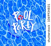 pool party funny poster with... | Shutterstock .eps vector #1069934831