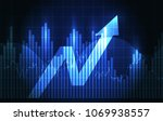 vector blue glowing investment... | Shutterstock .eps vector #1069938557