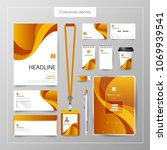 corporate identity template... | Shutterstock .eps vector #1069939541