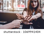 he handed out cigarettes to... | Shutterstock . vector #1069941404