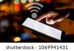 right hand of asian man...   Shutterstock . vector #1069941431