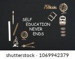 concept back to school  text... | Shutterstock . vector #1069942379
