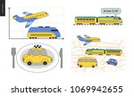 from point a to point b a set...   Shutterstock .eps vector #1069942655