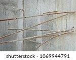 concrete debris with reinforced ...   Shutterstock . vector #1069944791