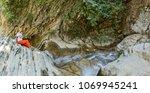 female model enjoying in nature.... | Shutterstock . vector #1069945241