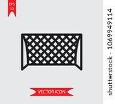 soccer goal vector icon  | Shutterstock .eps vector #1069949114