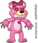 evil pink teddy bear. vector...   Shutterstock .eps vector #106994969