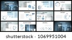 business presentation templates.... | Shutterstock .eps vector #1069951004