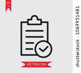 verified list vector icon    Shutterstock .eps vector #1069951481