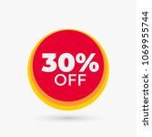 red discount offer price label. ... | Shutterstock .eps vector #1069955744