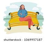 vector cartoon illustration of... | Shutterstock .eps vector #1069957187