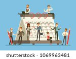 people working in business firm ... | Shutterstock .eps vector #1069963481
