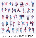 vector illustration in a flat... | Shutterstock .eps vector #1069965305