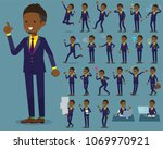 a set of men with who express... | Shutterstock .eps vector #1069970921