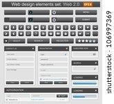 web design elements set. vector ...   Shutterstock .eps vector #106997369