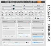 web design elements set. vector ... | Shutterstock .eps vector #106997375