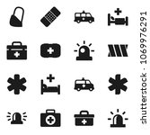 flat vector icon set   first... | Shutterstock .eps vector #1069976291