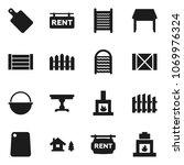 flat vector icon set  ... | Shutterstock .eps vector #1069976324