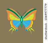 colorful icon of butterfly... | Shutterstock .eps vector #1069977779