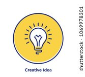 creativity related offset style ... | Shutterstock .eps vector #1069978301