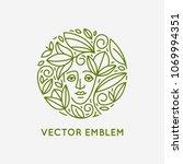 vector logo design template in... | Shutterstock .eps vector #1069994351