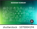 cryptocurrency concept hand... | Shutterstock .eps vector #1070004194