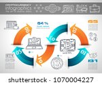 cryptocurrency concept hand... | Shutterstock .eps vector #1070004227