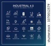 industry 4.0 and smart... | Shutterstock .eps vector #1070012579