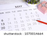 May Calendar With Gift Box....