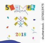 summer camp 2018 for kids...   Shutterstock .eps vector #1070015975