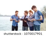 group of people ecologists.... | Shutterstock . vector #1070017901