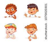 cartoon collection of little... | Shutterstock .eps vector #1070020301