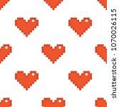 geek valentine's day red pixel...   Shutterstock .eps vector #1070026115